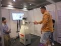 Australian Wushu Team in Hong Kong 2013 - Damon Bramich testing Push-Hands Machine