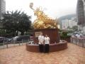 Australian Wushu Team in Hong Kong 2013 - Helen Rivett and Mark Shamin with Golden Dragon